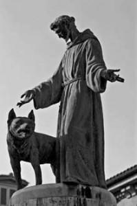 Monumento a San Francisco de Asís, Plaza de San Francisco, Pamplona, Navarra, España